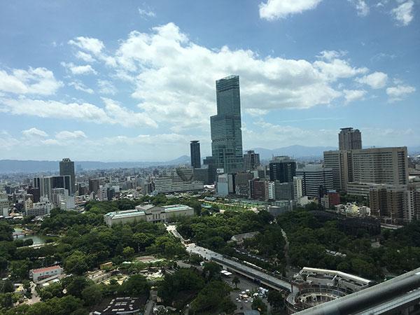 通天閣の展望台からの景色
